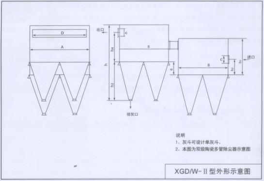 炼铁高炉重力除尘器内部结构图